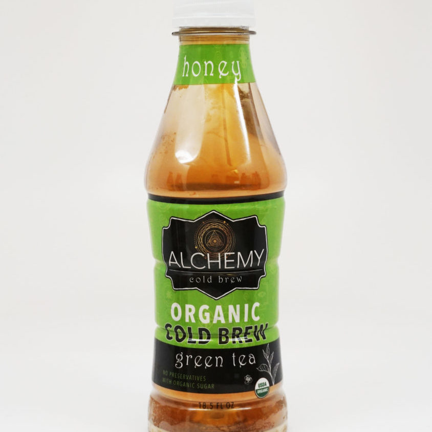 alchemy tea rtd honey green white background